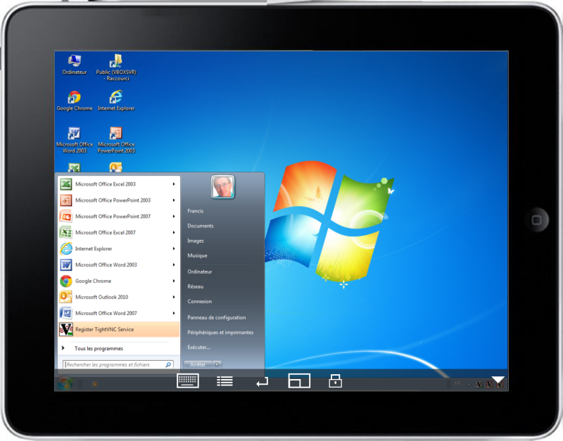 windows sur ipad