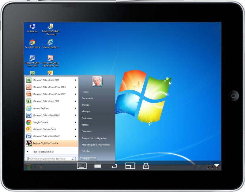 Contrôle du PC par l'iPad