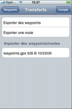 iNavX Transferts