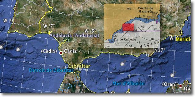 Localisation supposée du Dei Gloria