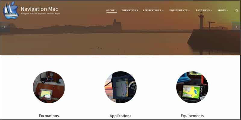 Le site web de Navigation Mac...