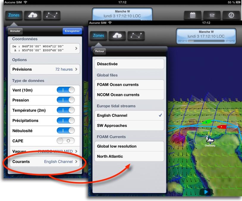 weather4d pro et courants